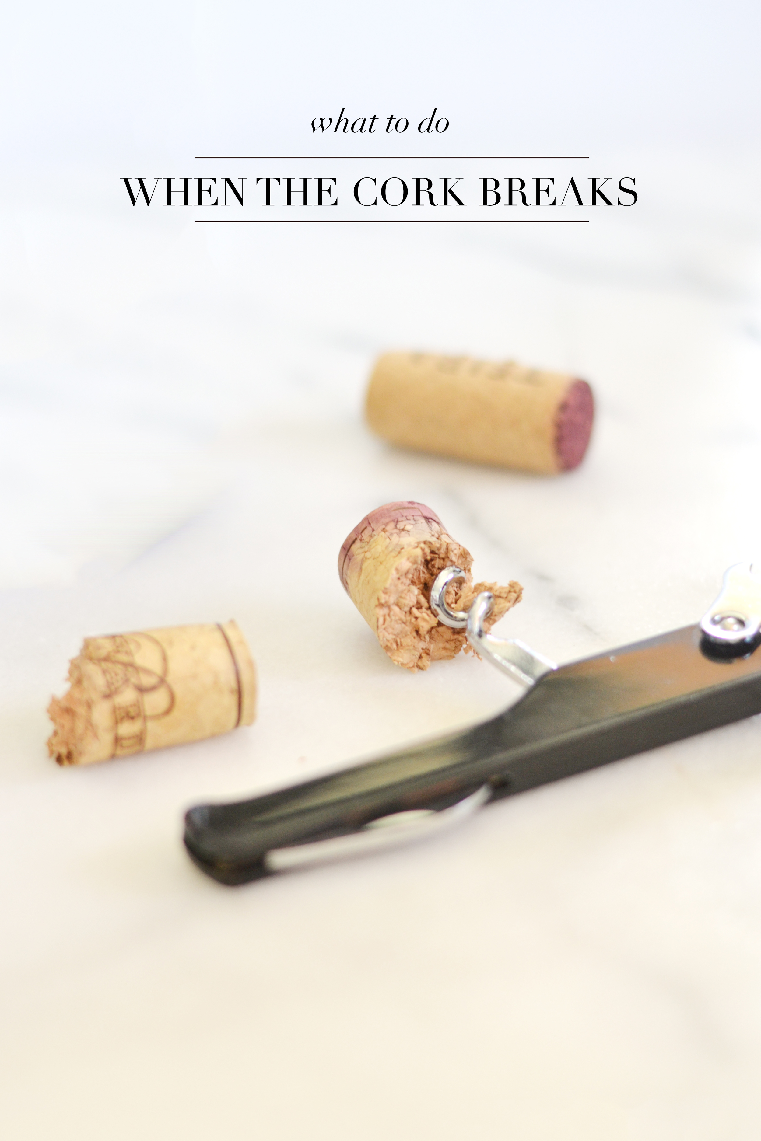 Good to know for opening up an old bottle of wine and the cork breaks!   boxwoodavenue.com