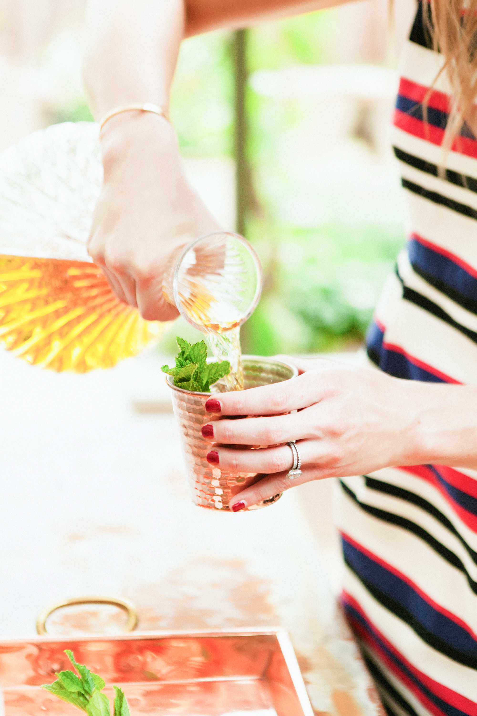 How to make a mint julep! In copper tumblers instead of a julep cups. | boxwoodavenue.com [milou + olin photography]