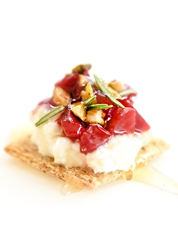 Triscuit recipes that are anything but basic from boxwoodavenue.com [FoodieCrush's Pickled Beet and Ricotta Cheese with Honey Triscuit]