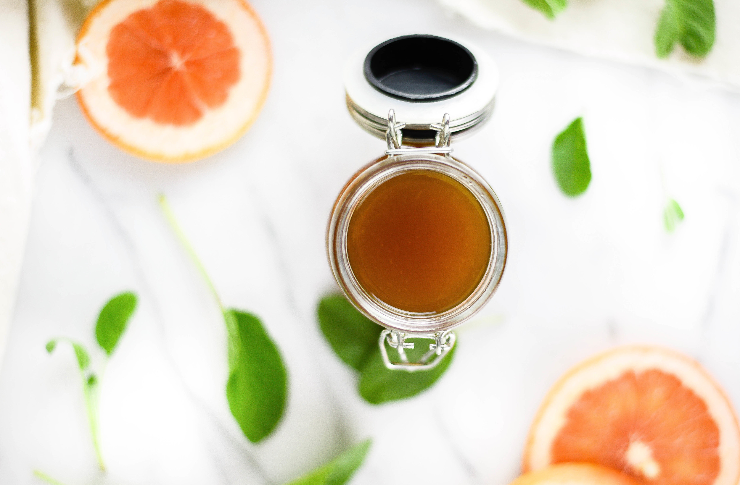 Grapefruit Sage Syrup Perfect for Cocktail Recipes & Tequilia Cocktails | boxwoodavenue.com