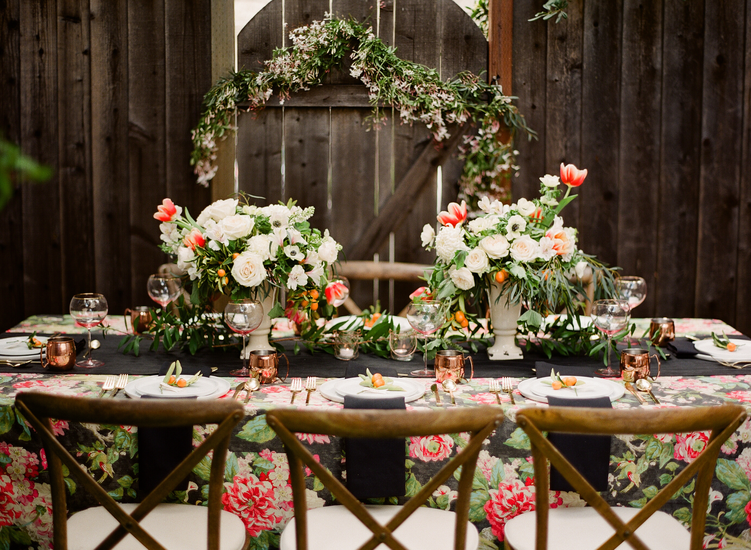 outdoor entertaining beautifully decorated wooden table with florals