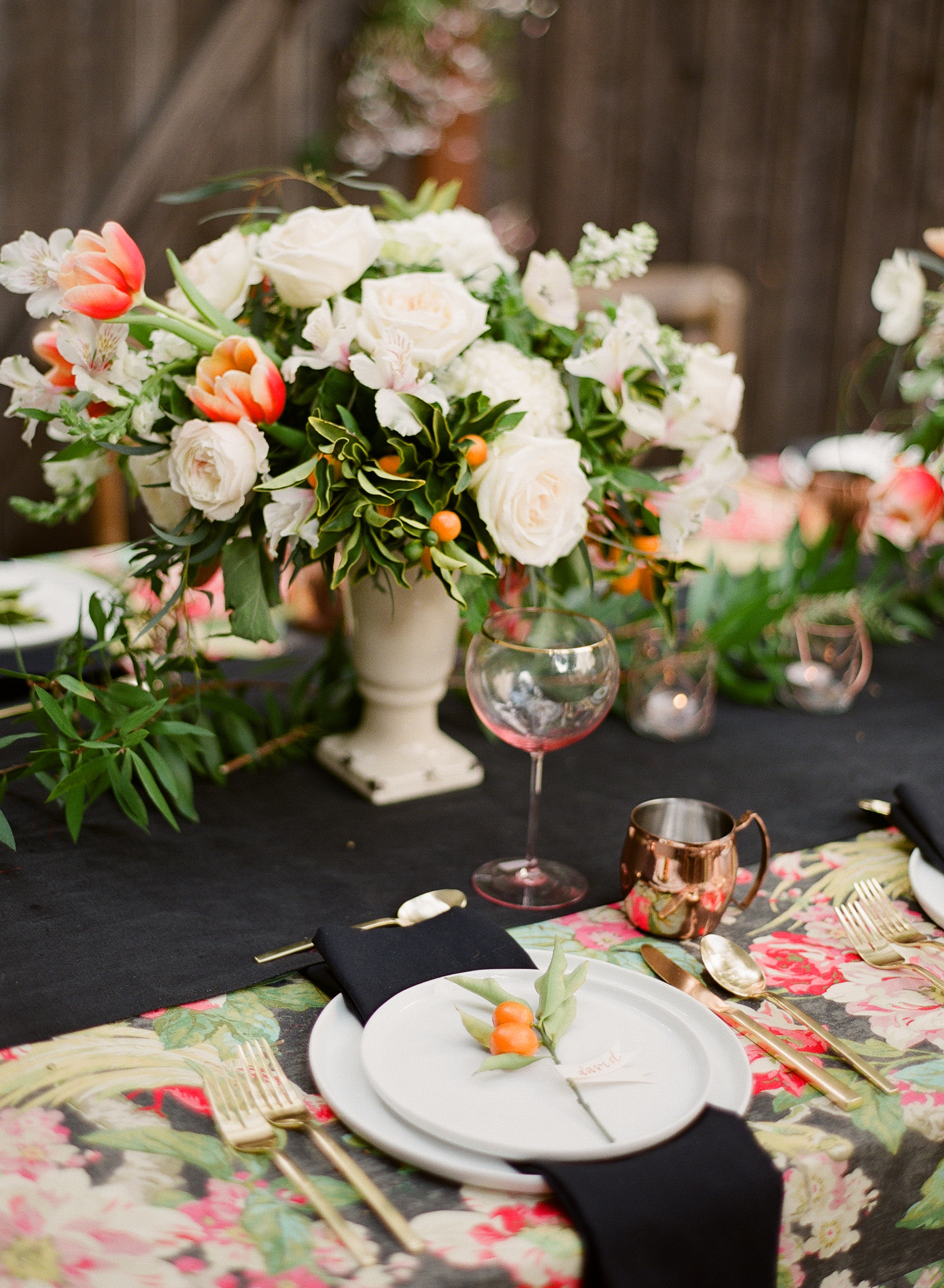 beautifully decorated table for outdoor entertaining