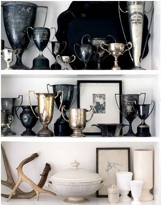 Vintage trophies on display, equestrian style | Roland Bello