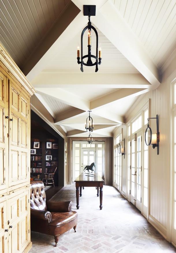 Equestrian Style Hallway by Landy Gardner