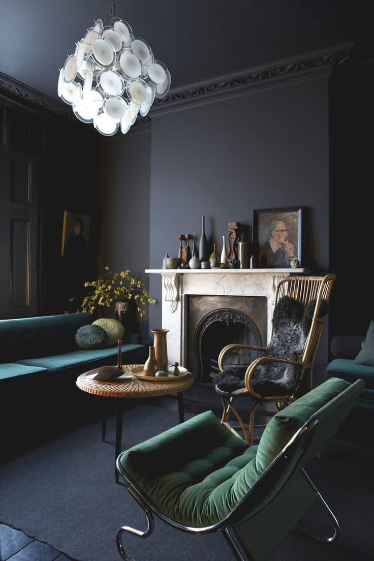 Jewel tones & dark living room   Milk Magazine