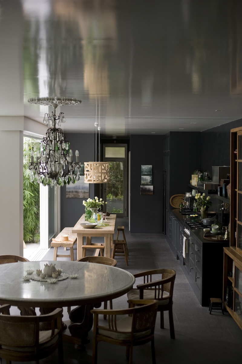 A black kitchen with low ceilings has never looked this beautiful! via The Generalist / Karen Cotton