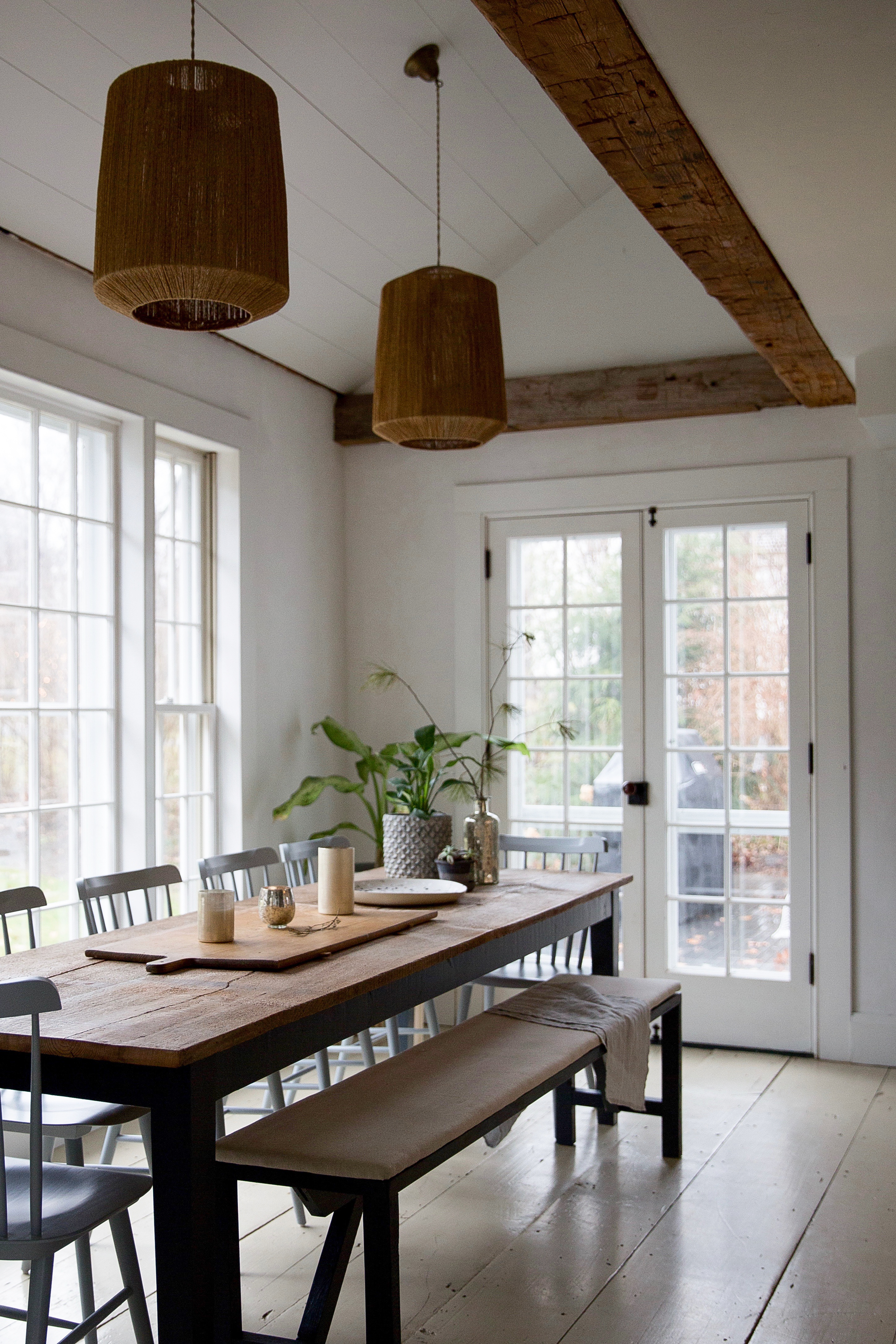 Jersey Ice Cream Co. & Local Milk from Remodelista | old farmhouse kitchen with amazing wood beams!
