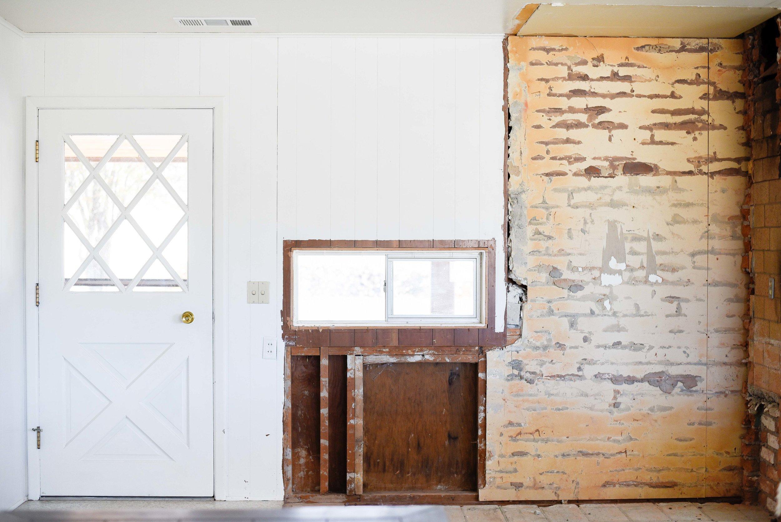60's farmhouse renovation - DIY French door installation | boxwoodavenue.com