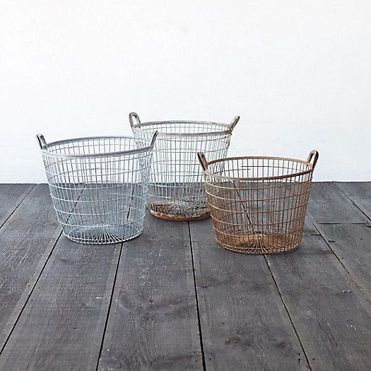 Storage baskets for closet organization from Terrain