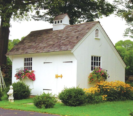 Outdoor storage & garden shed inspiration from boxwoodavenue.com | via capecod life