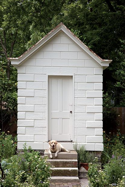 Outdoor storage & garden shed inspiration from boxwoodavenue.com | via garden & gun