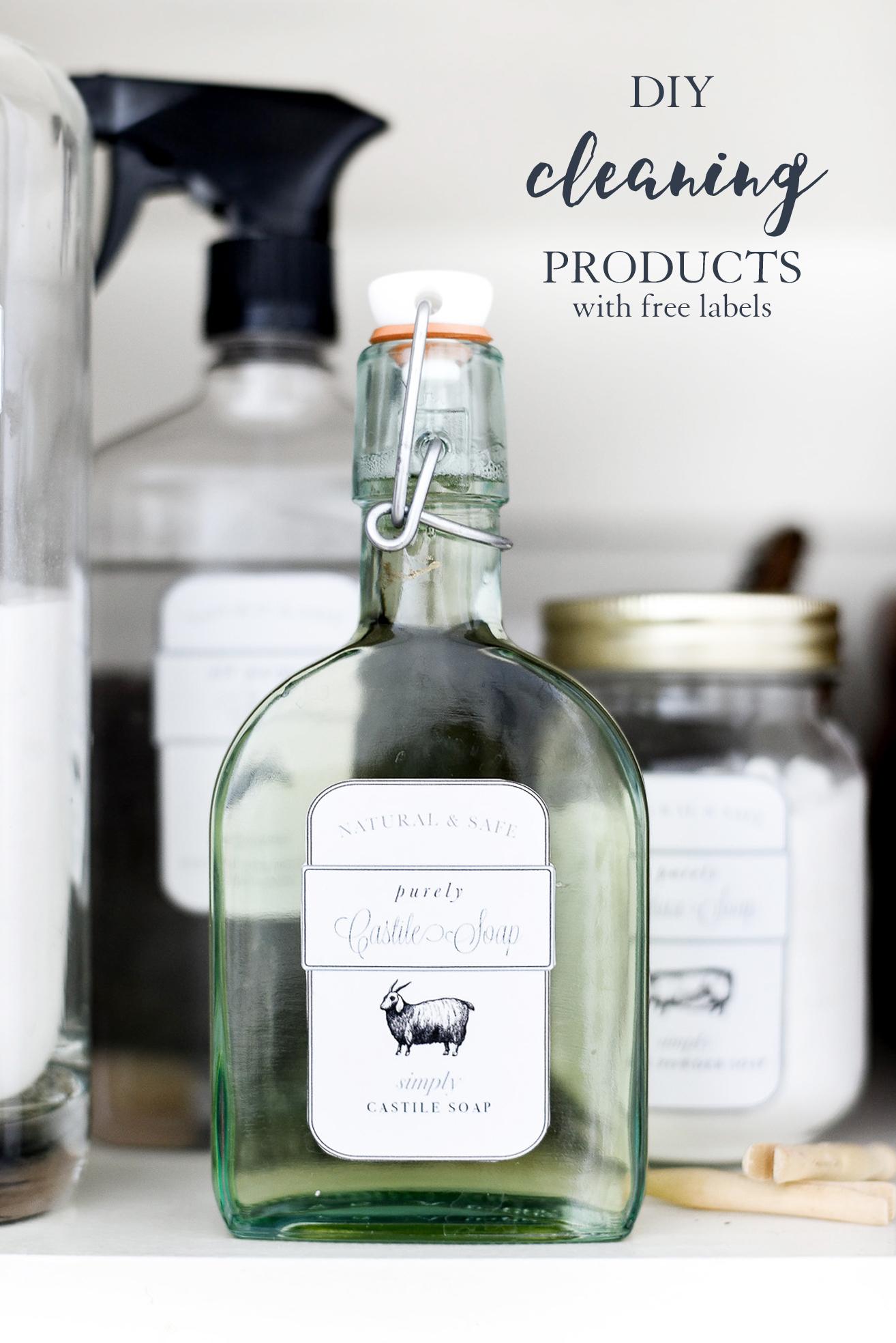DIY Cleaning Labels & Recipes | boxwoodavenue.com