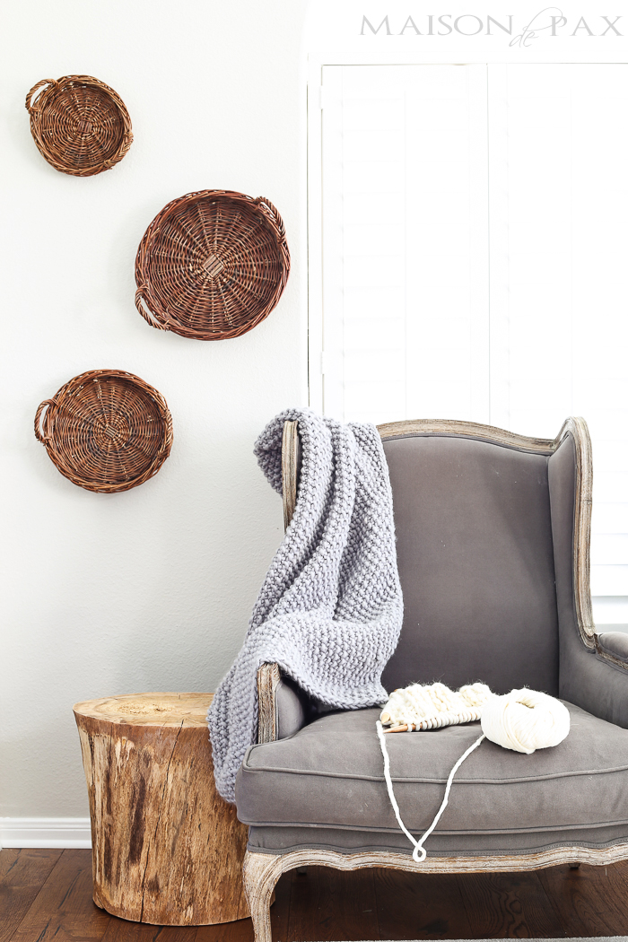 DIY Chunky Knit Throw from Maison de Pax