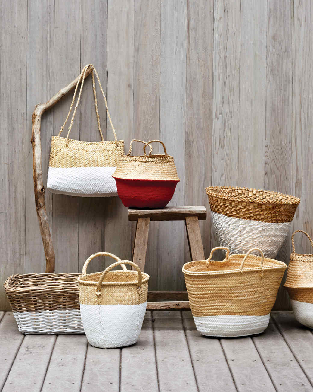 DIY Dip Dye Baskets from MS Living