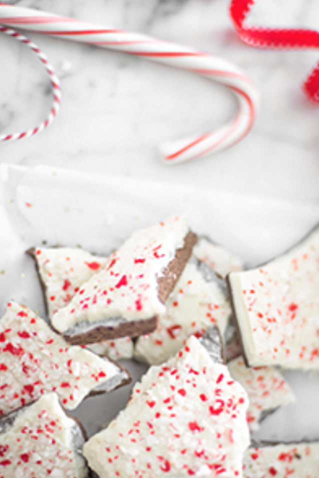 10 Delicious Christmas Treats that aren't Cookies! // Classic Peppermint Bark