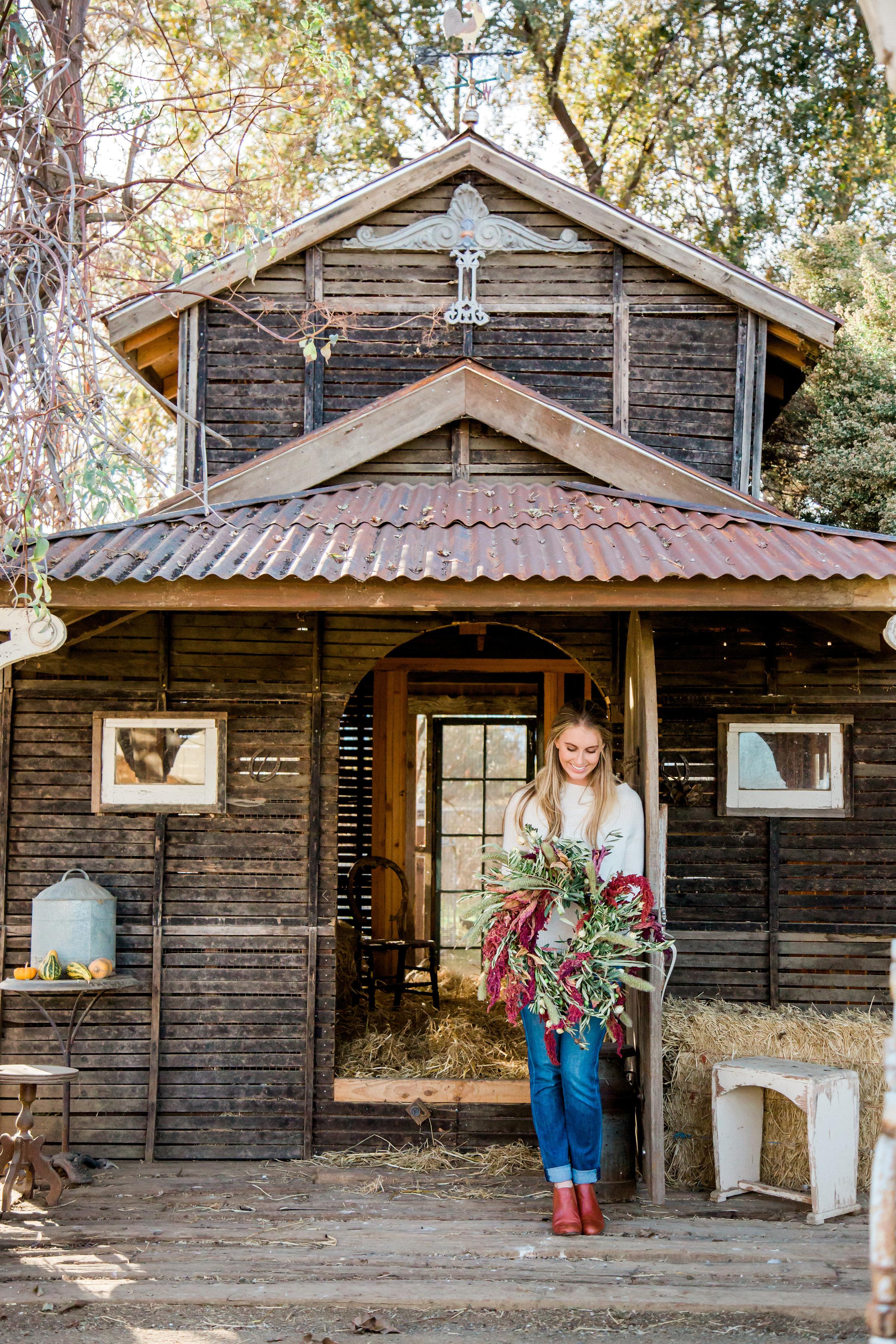 Park Winters Wreath Workshop in Northern California | boxwoodavenue.com