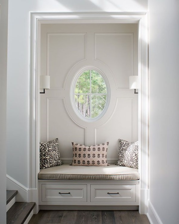 Closet turned built in bench