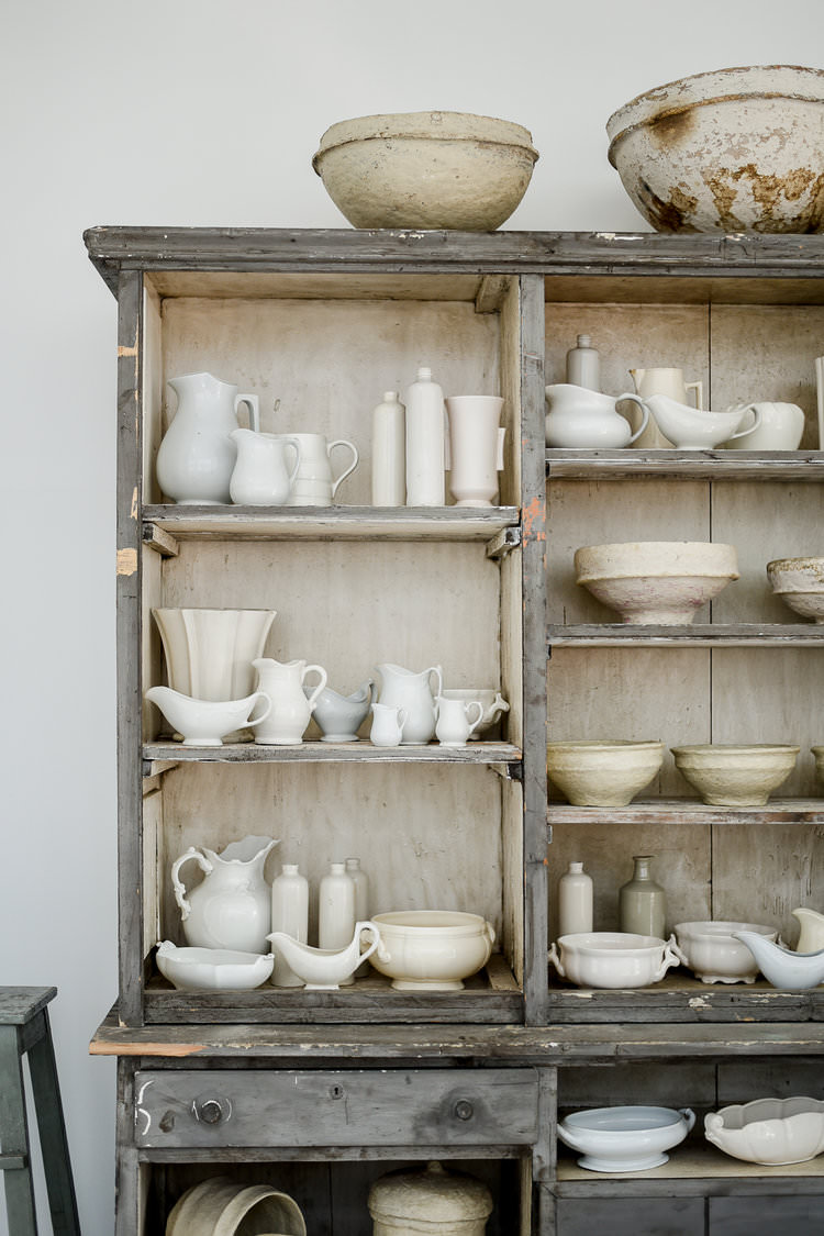 Ironstone Collection in beautiful French Cabinet