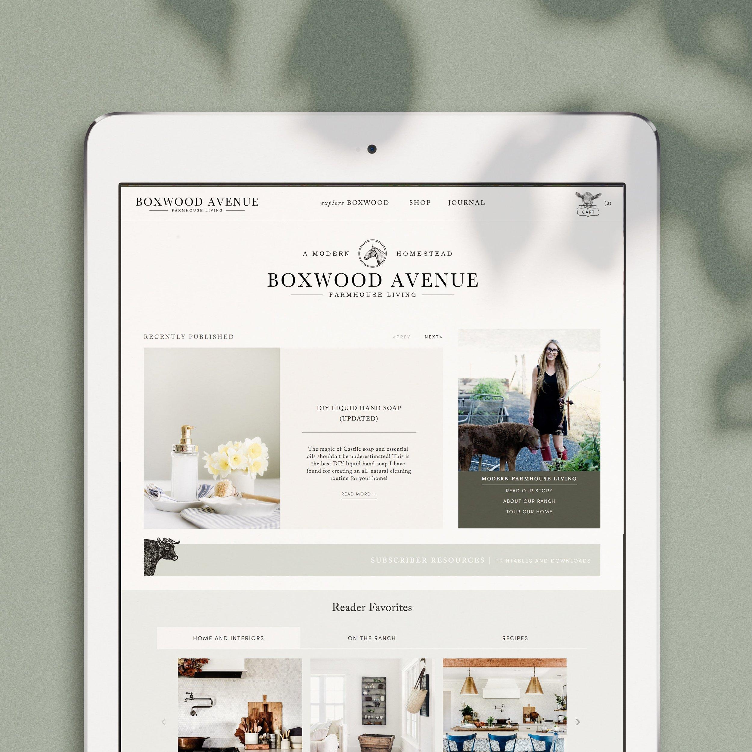 Boxwood Ave new Website