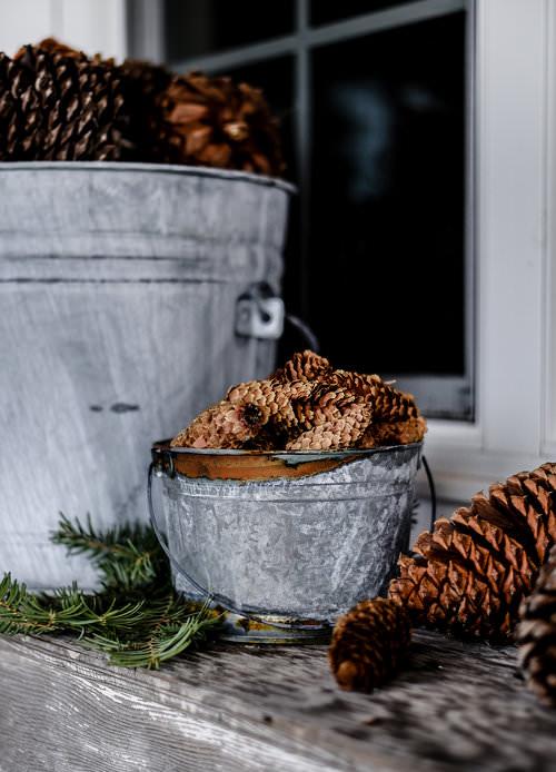 DIY Distressed Galvanized Buckets | boxwoodavenue.com