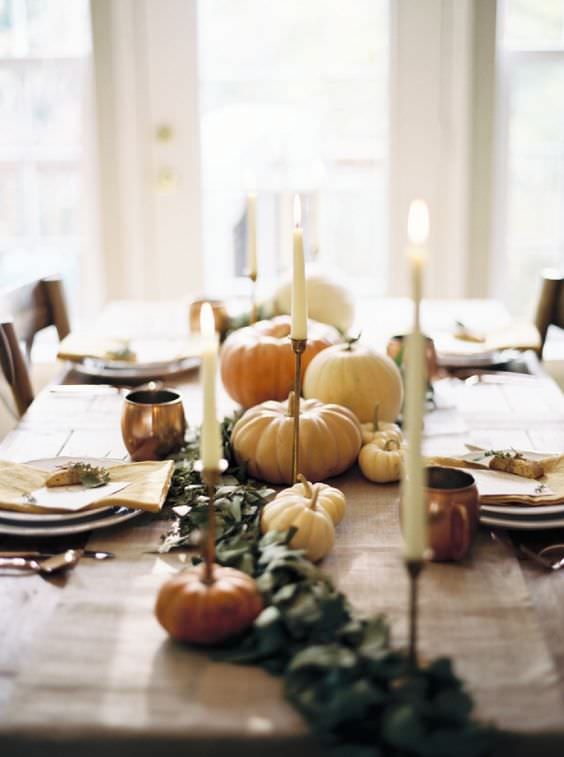 Simple Fall Tablescape Ideas   SMP living