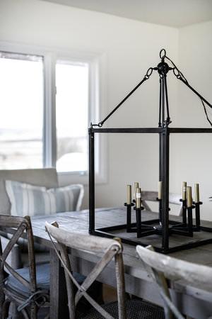 Iron Light Fixture Dining Room One Room Challenge   boxwoodavenue.com