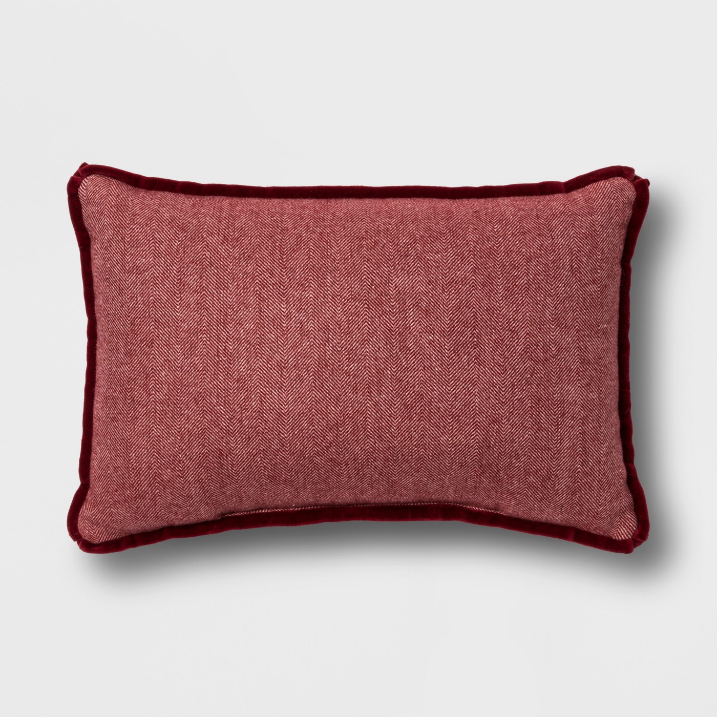 Red pillow for autumn living room farmhouse interior