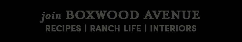 Boxwood Avenue