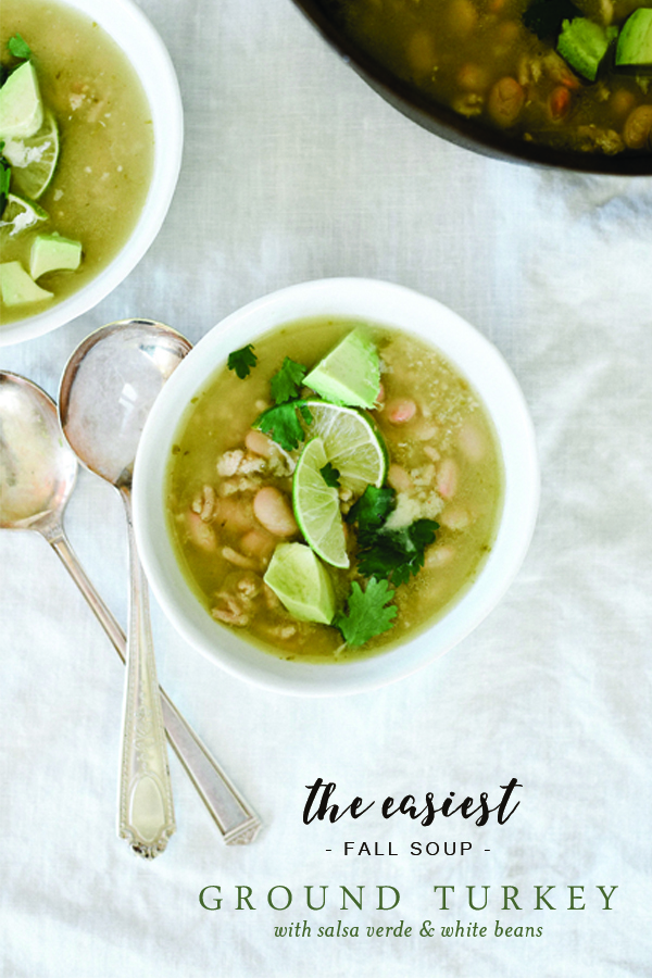 This easy ground turkey soup is easy and flavorful!