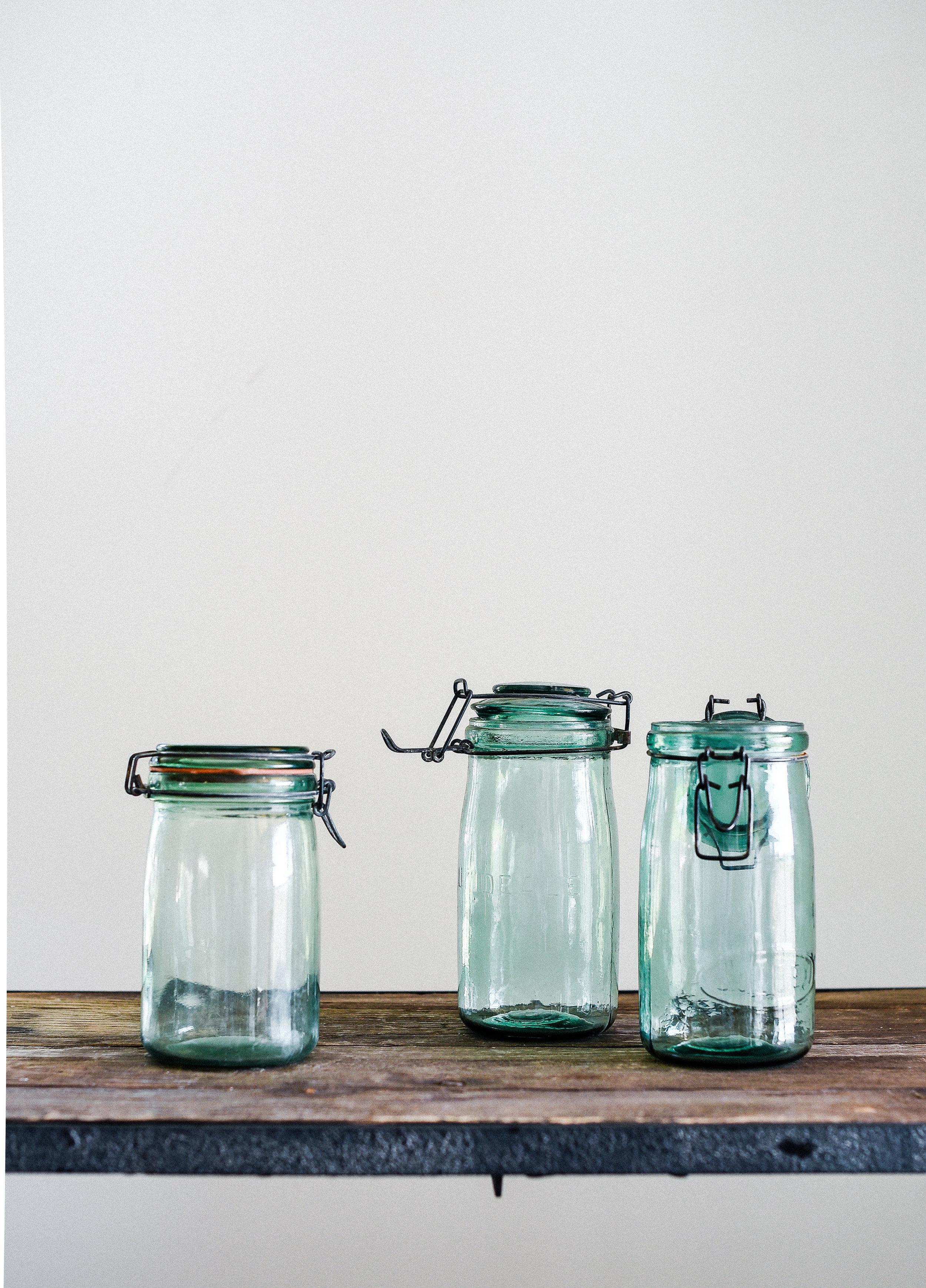 Vintage green mason jar for a farmhouse christmas boxwoodavenue.com