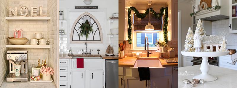 Farmhouse Christmas decorating ideas #christmaskitchendecor #farmhousechristmas
