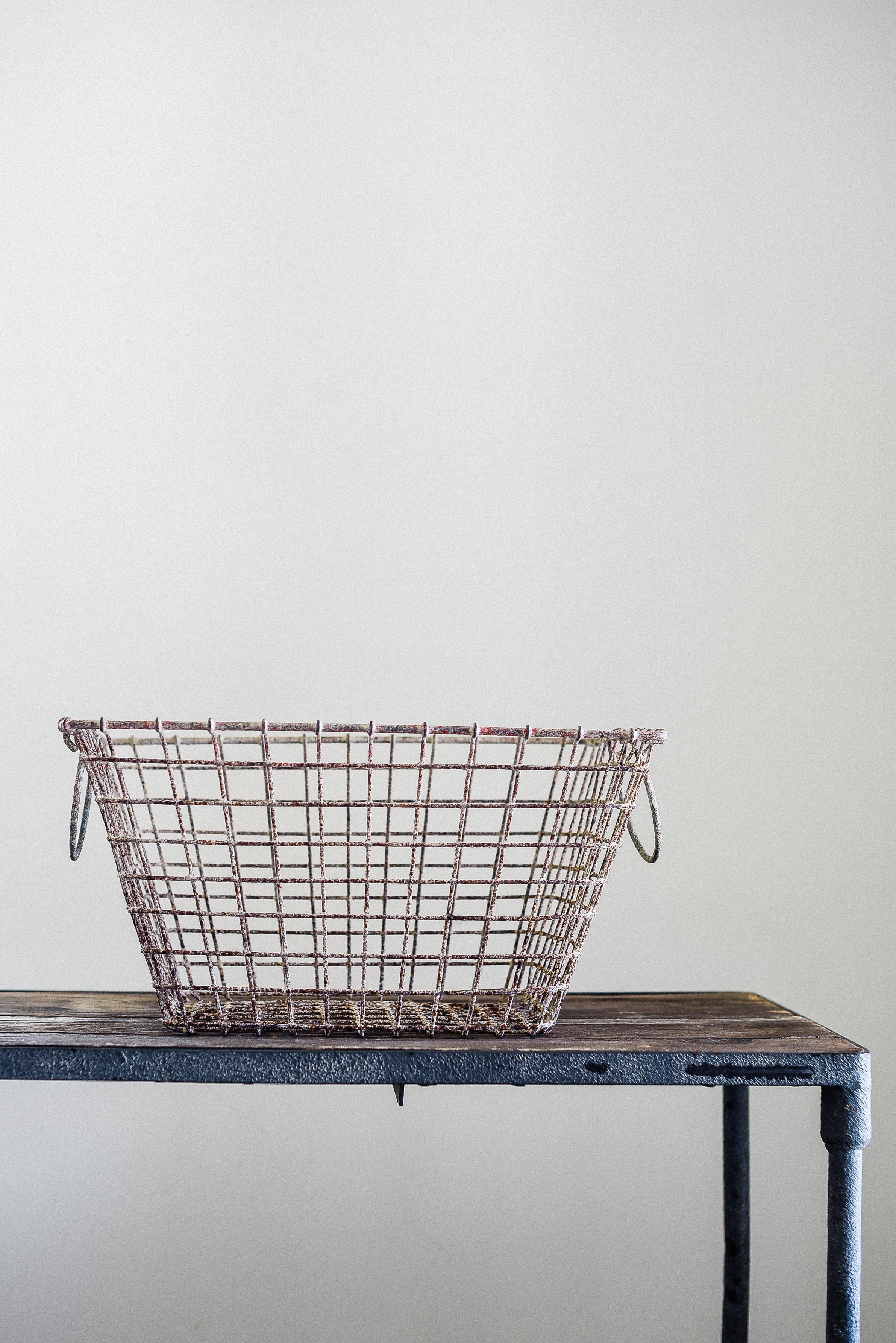 Vintage Oyster Basket