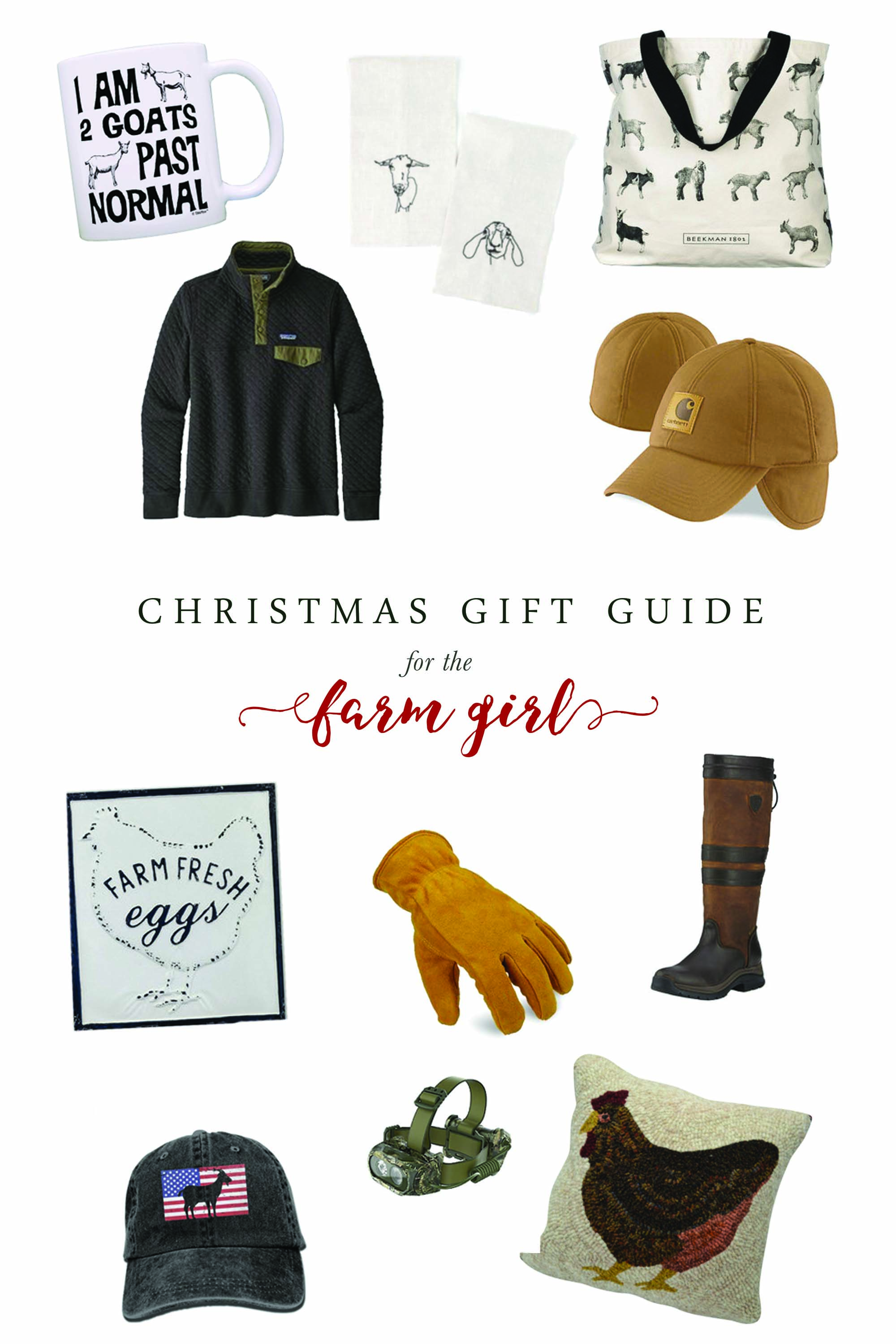 This Christmas give your farm girl exactly what she wants (and needs) for work and for the home!