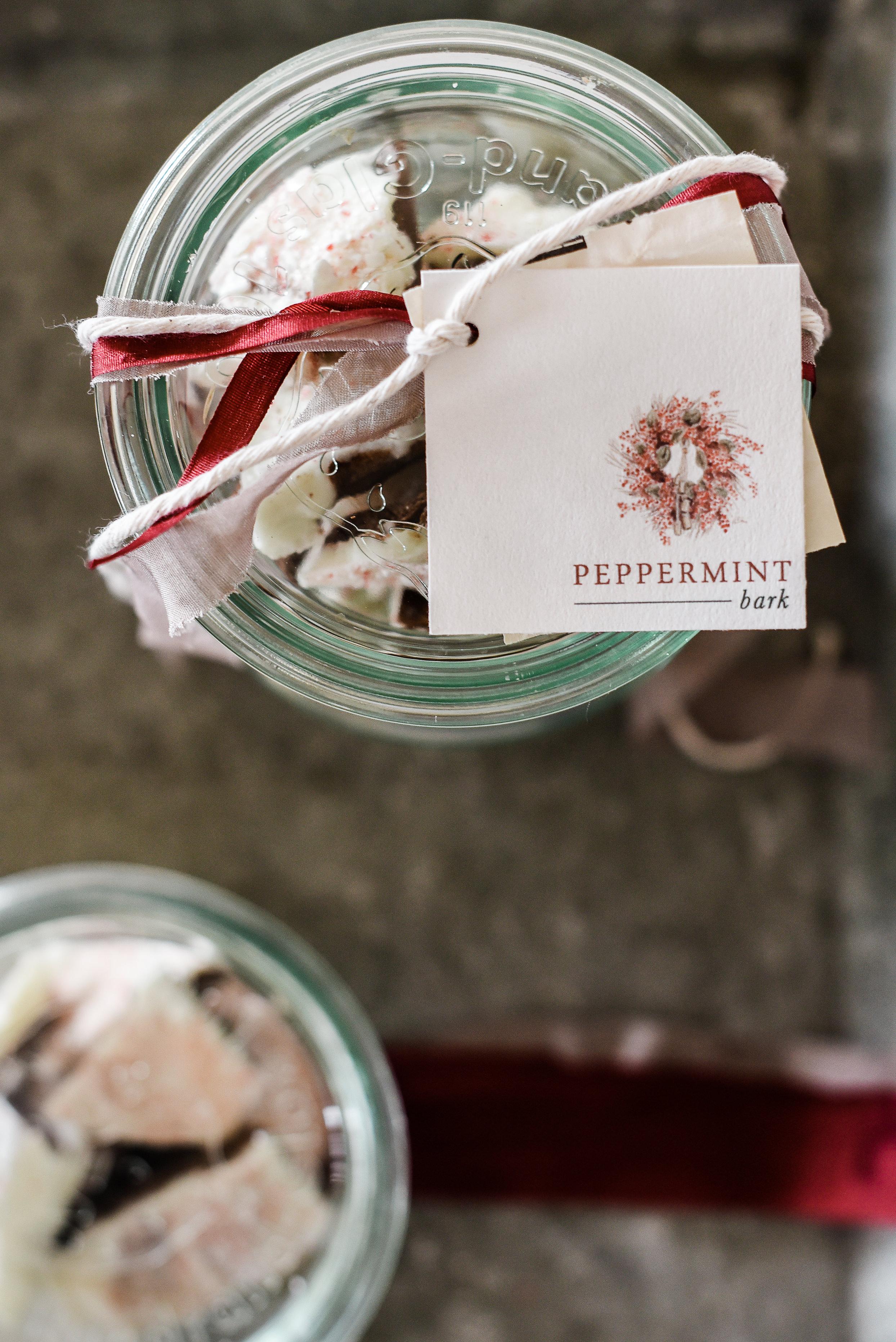 Make this homemade peppermint bark this holiday season as an easy Christmas treat or DIY Christmas gift! boxwoodavenue.com #christmasbaking #ediblechristmasgift