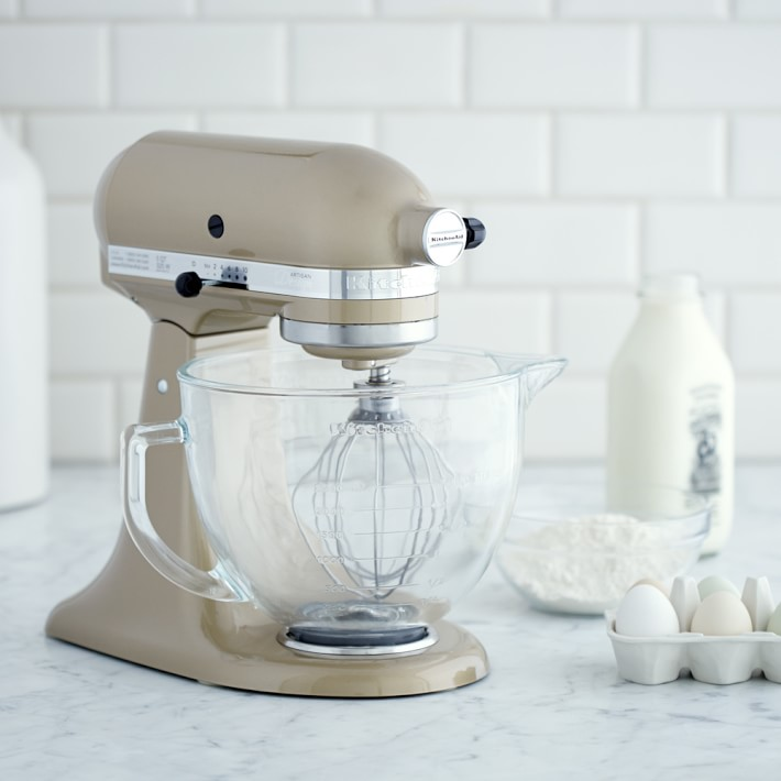 Kitchenaid Mixer - It took me a while to fall in love with our mixer, but now that I have, there's no going back! I love keeping our mixer out on the counter and find myself whipping up Christmas cookies, baked donuts, or whipped cream in it! I love that the designer series comes with a glass mixing bowl and is the most beautiful champagne color!