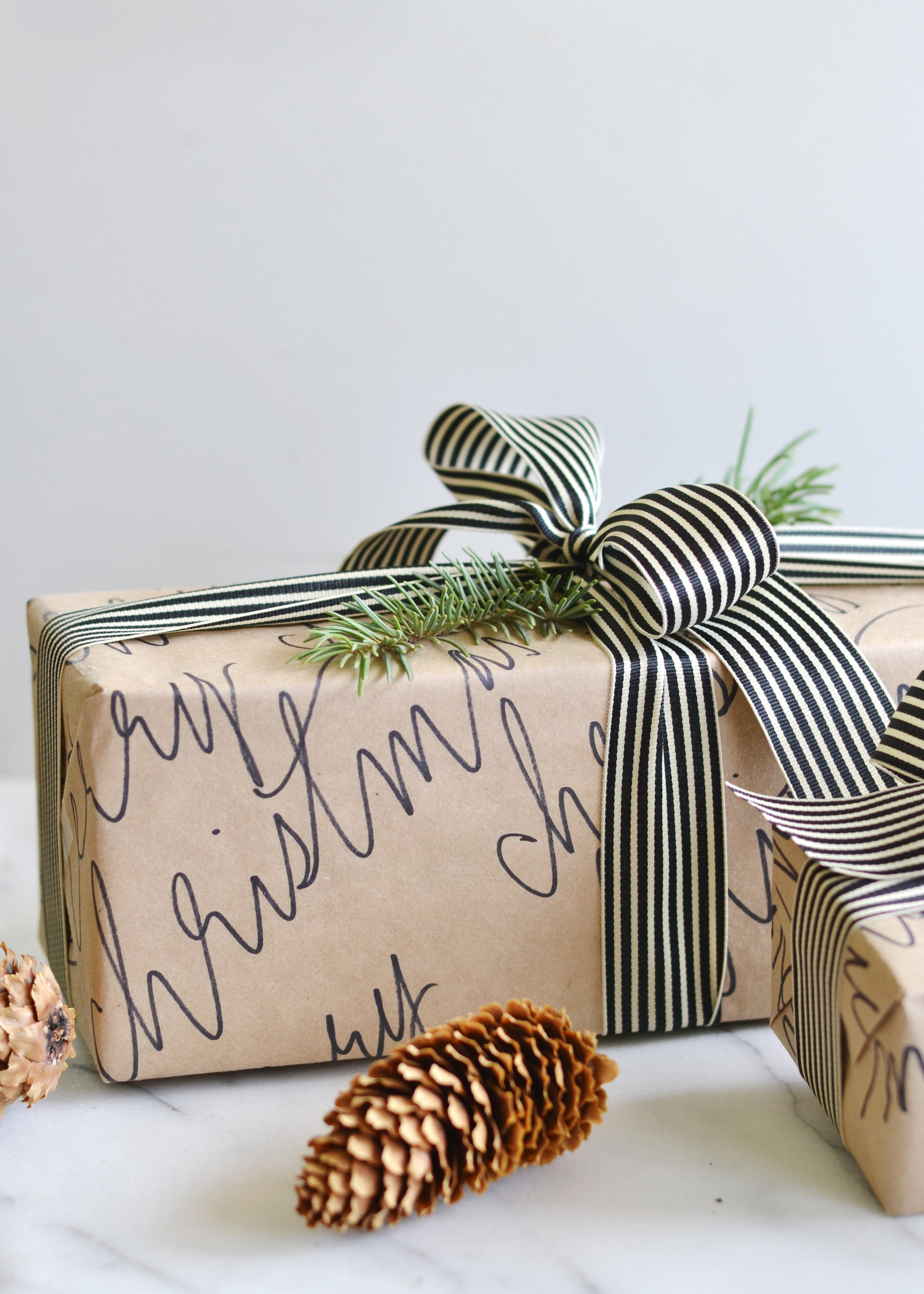 DIY Calligraphy Wrapping Paper boxwoodavenue.com