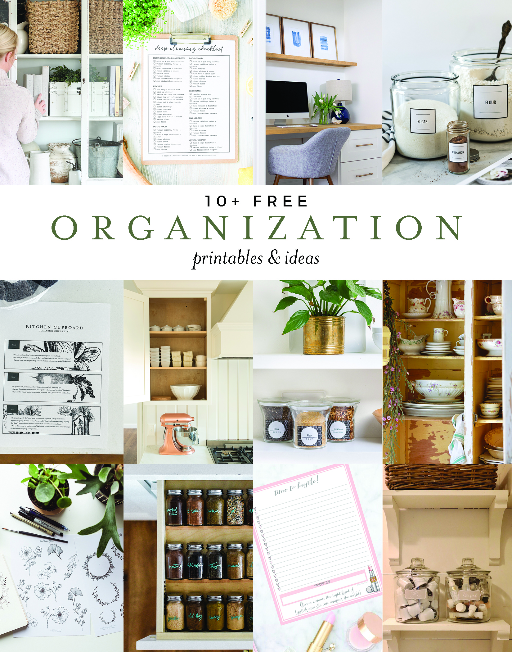 Over 10 genius organization tips and tricks with free printable to help organize your home! boxwoodavenue.com