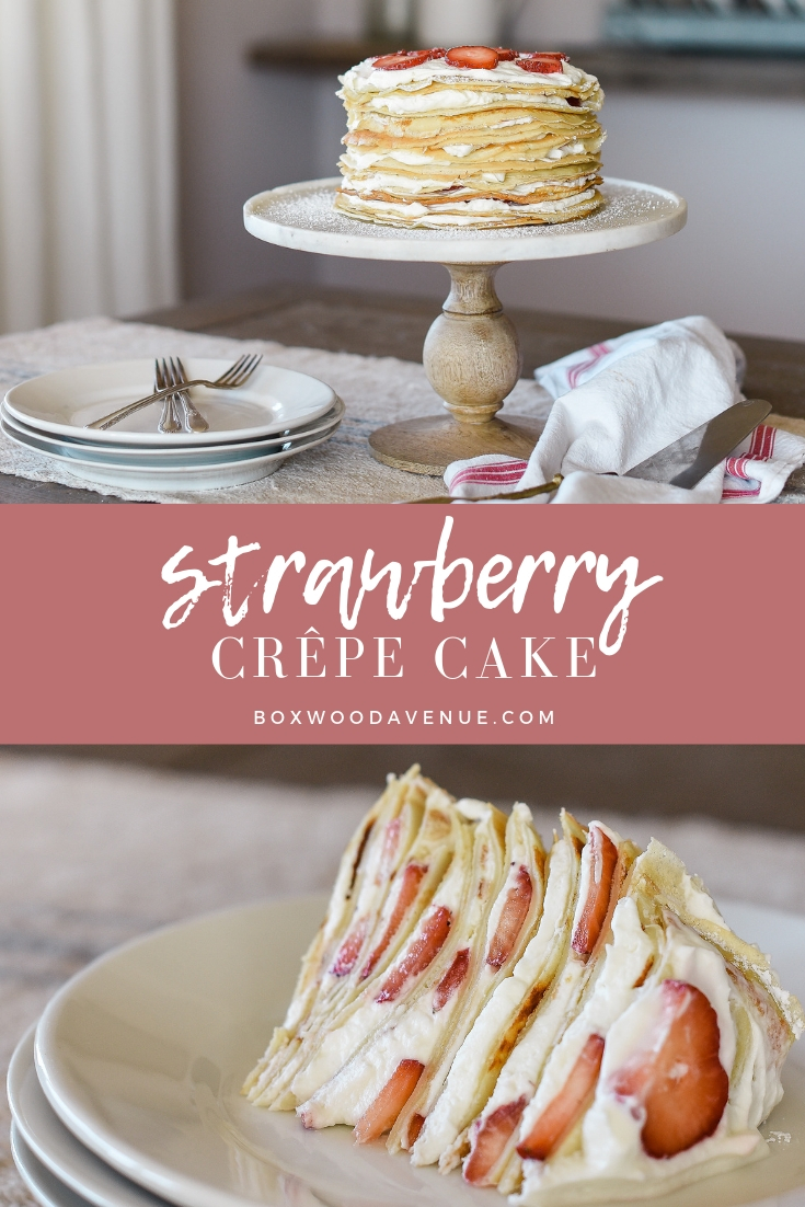 This beautiful crepe cake recipe is perfect for birthdays, showers, or Valentine's Day! This impressive dessert with please any crowd!