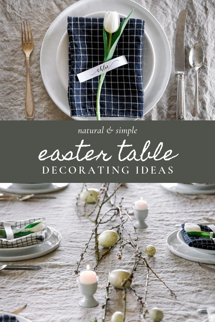 Easter table decorating ideas with checker print easter table linens | boxwoodavenue.com #easterdecor #eastertable #eastertablescape