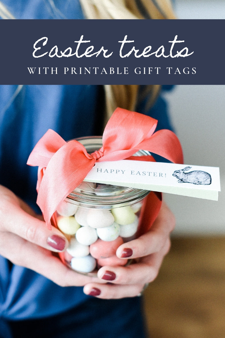 Turn a few chocolate bars or Easter candies into darling sweet Easter treats! These easy Easter gifts are so cute with free printable gift tags! #easter #eastercrafts #easterbasket boxwoodavenue.com