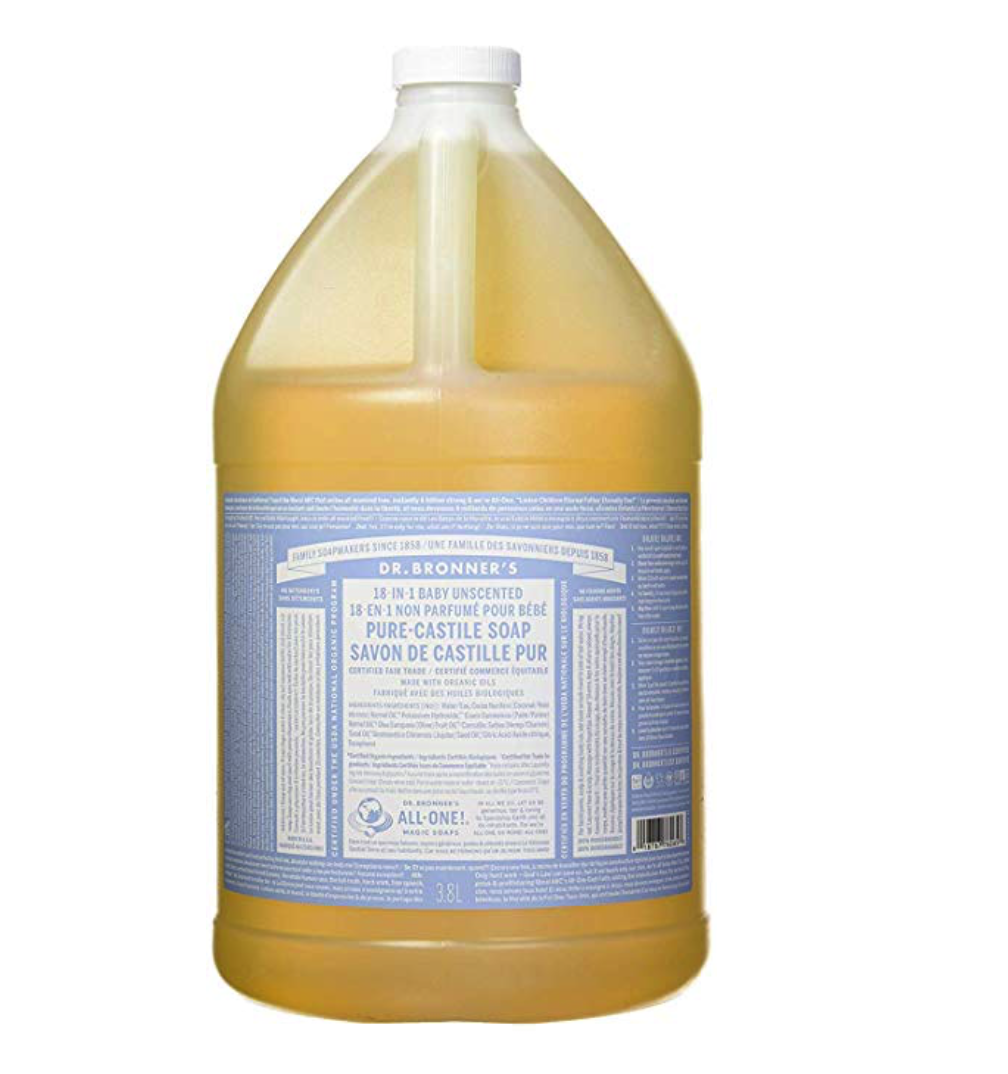 Best all natural cleaning solution - castile soap!