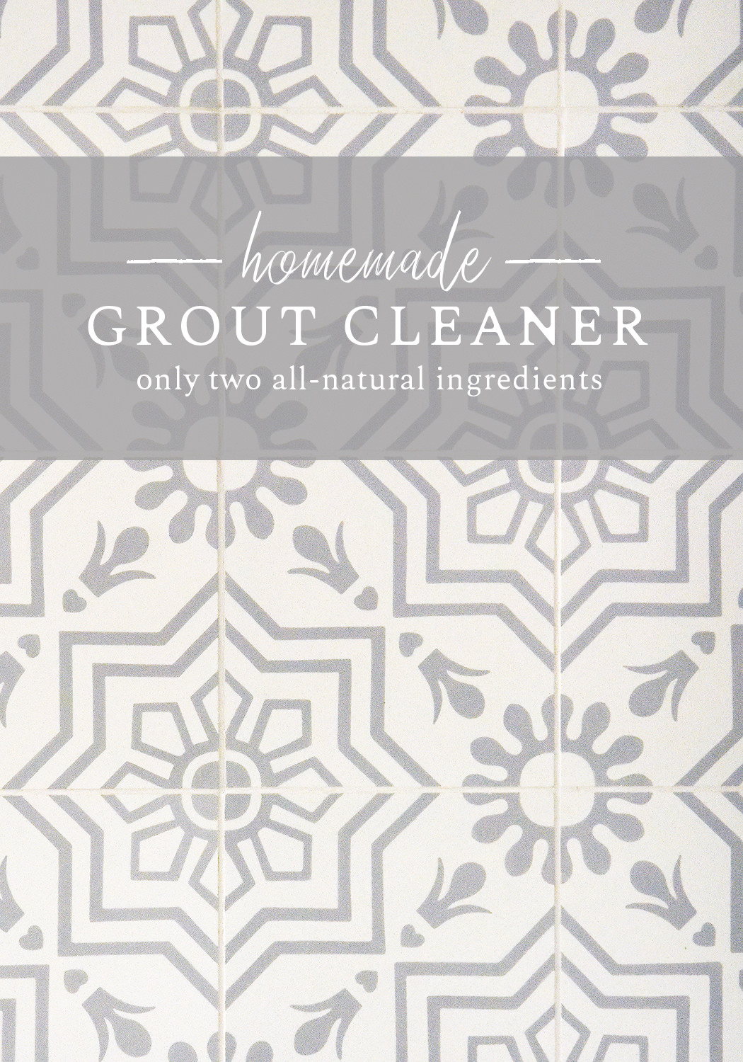 All-natural homemade grout cleaner to green clean your home! #greencleaning #naturalcleaning boxwoodavenue.com