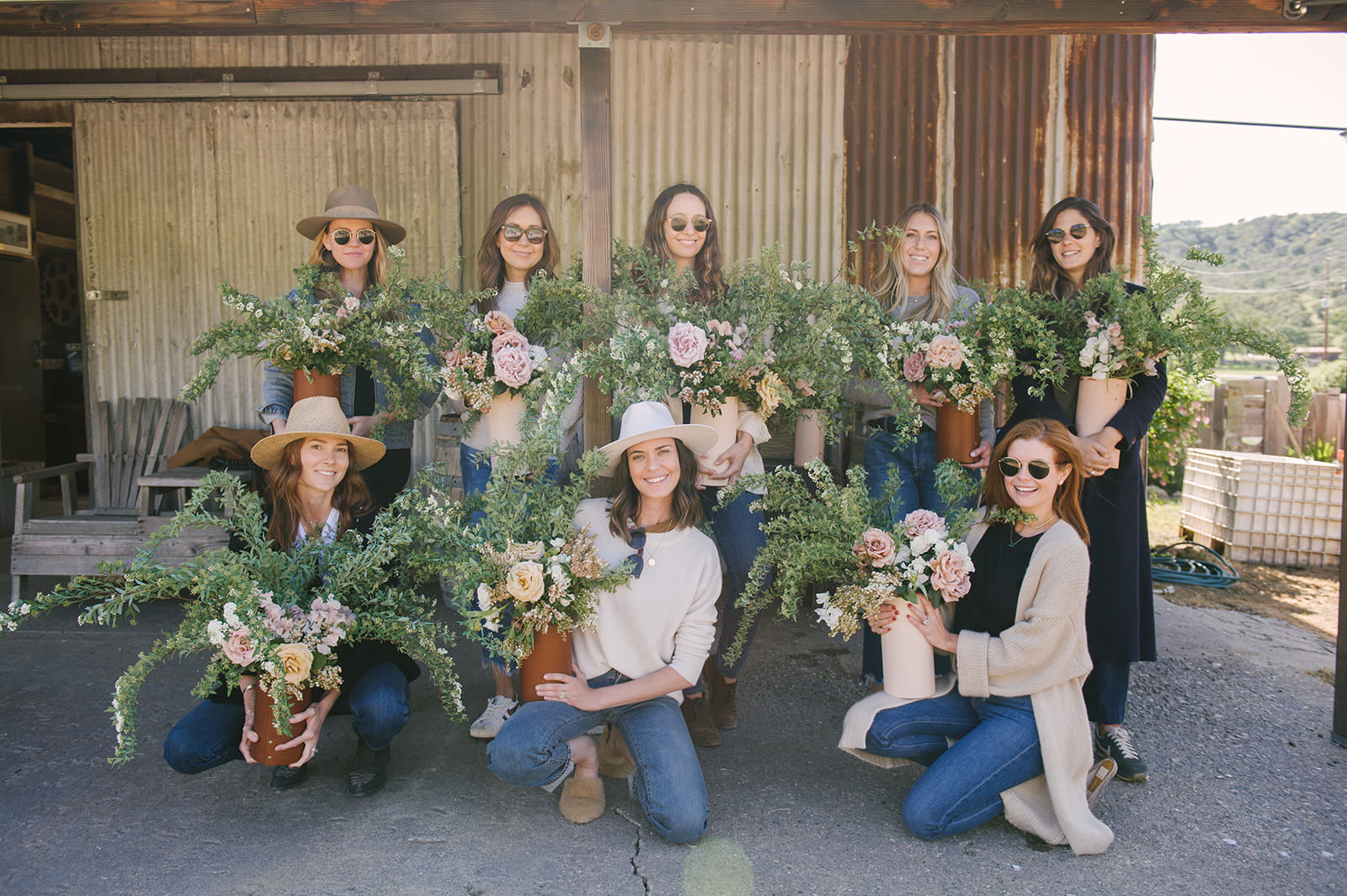 Floral arranging class with Sarah Winward at Folded Hills Ranch for Pacific Natural with Jenni Kayne!