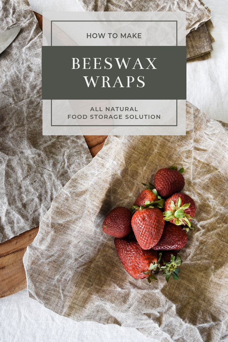 How to make your own Bee's Wrap - DIY Beeswax Wraps from linen or cotton. Green Living and sustainable food storage! #greenliving #sustainable