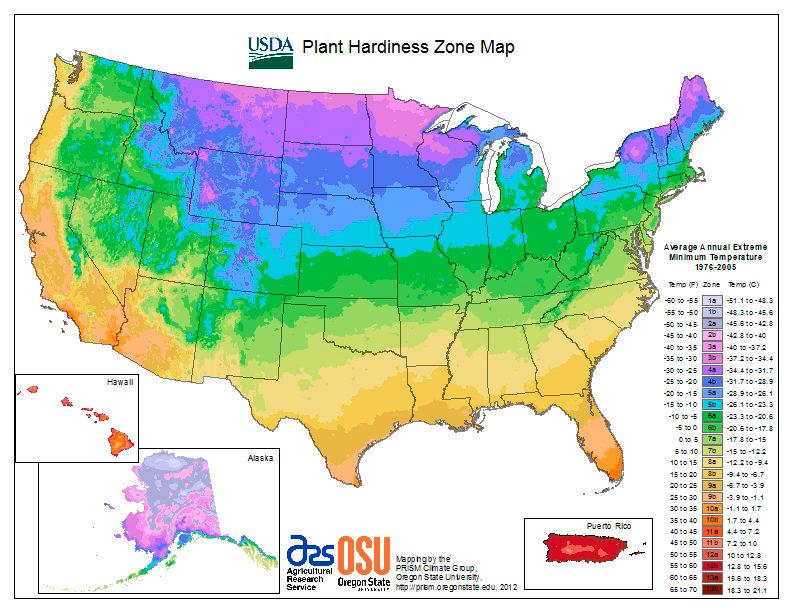 How to Determine Gardening Zone by Region USA