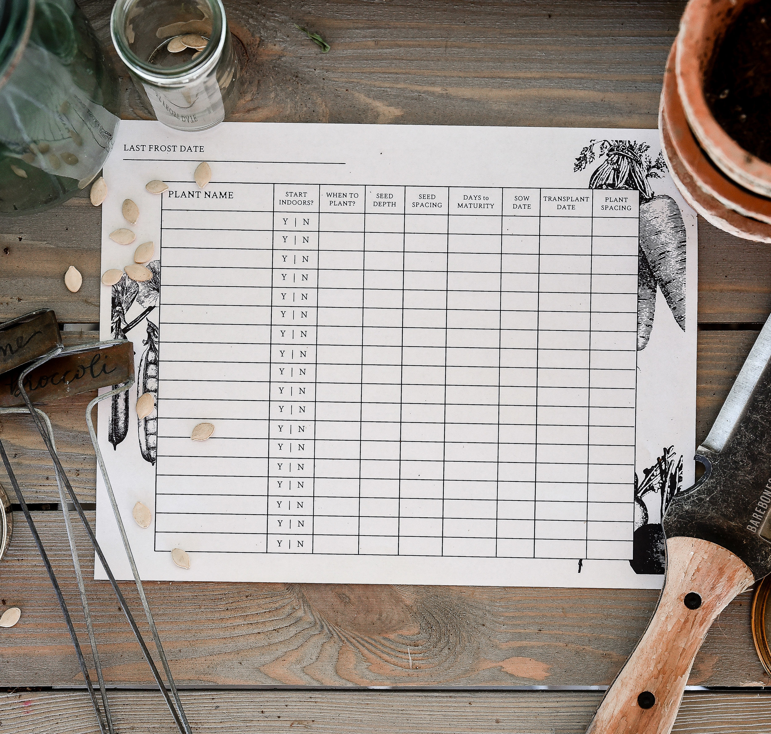 How to start seeds indoors, an easy to use seed starting log book to help you start seeds indoors! #gardening #homesteading #veggiegarden #seedstarting #boxwoodavenue