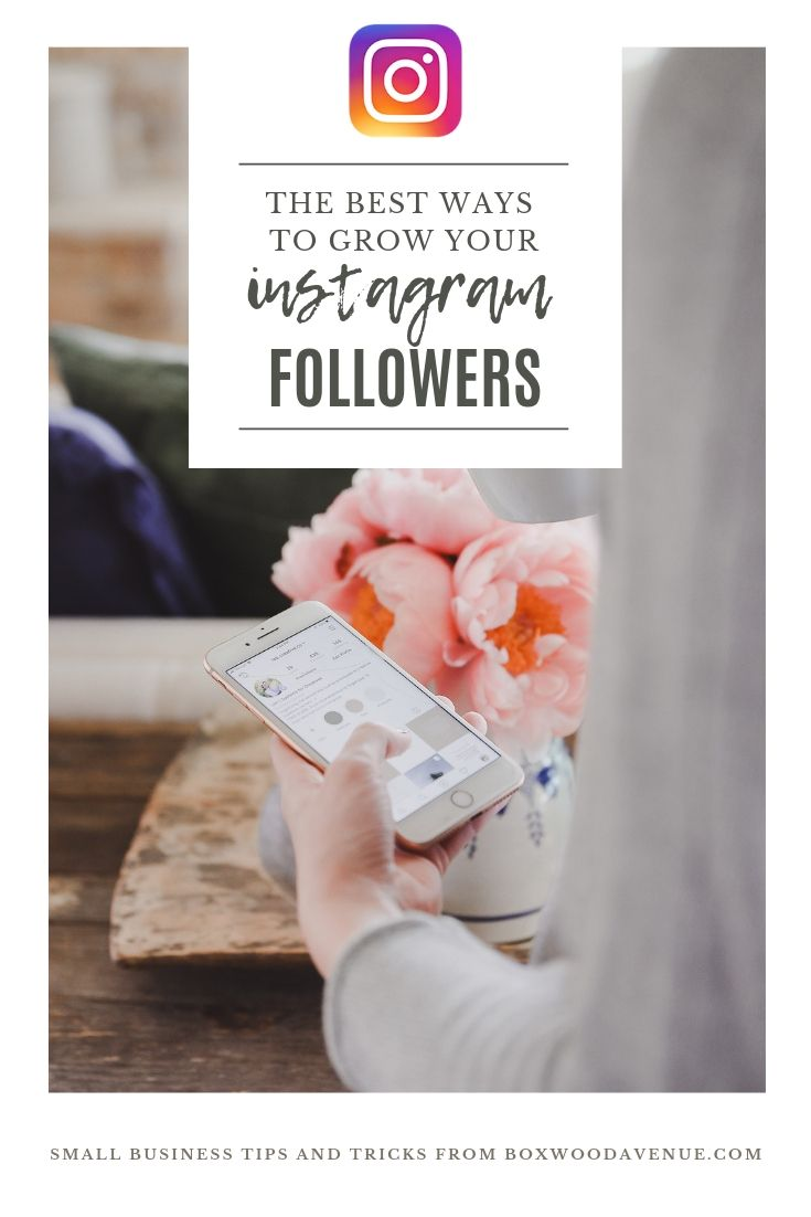 Looking to get more followers on Instagram? Try these tips to get more followers on Instagram in 2019 | #smallbusiness #blogging #boxwoodavenue