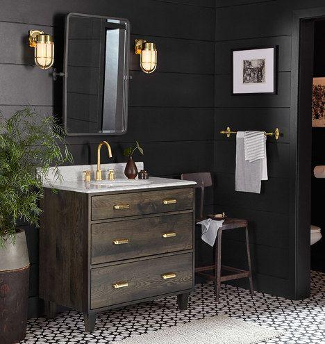 Black bathroom design ideas #bathroomideas #blackbathroom
