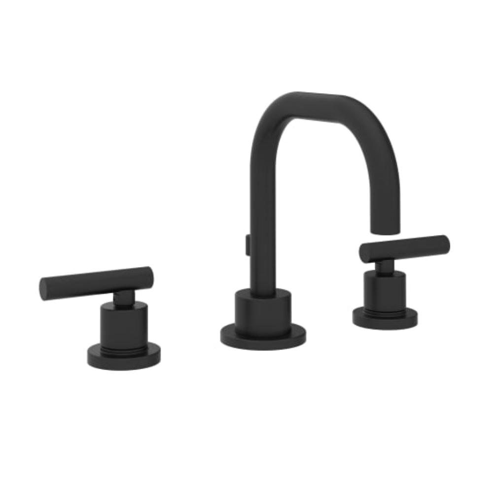 Wide Spread matte black faucet for bathroom