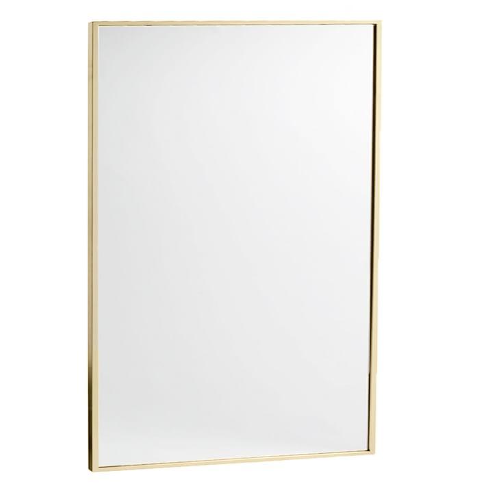 Brass metal framed mirror for bathroom vanity